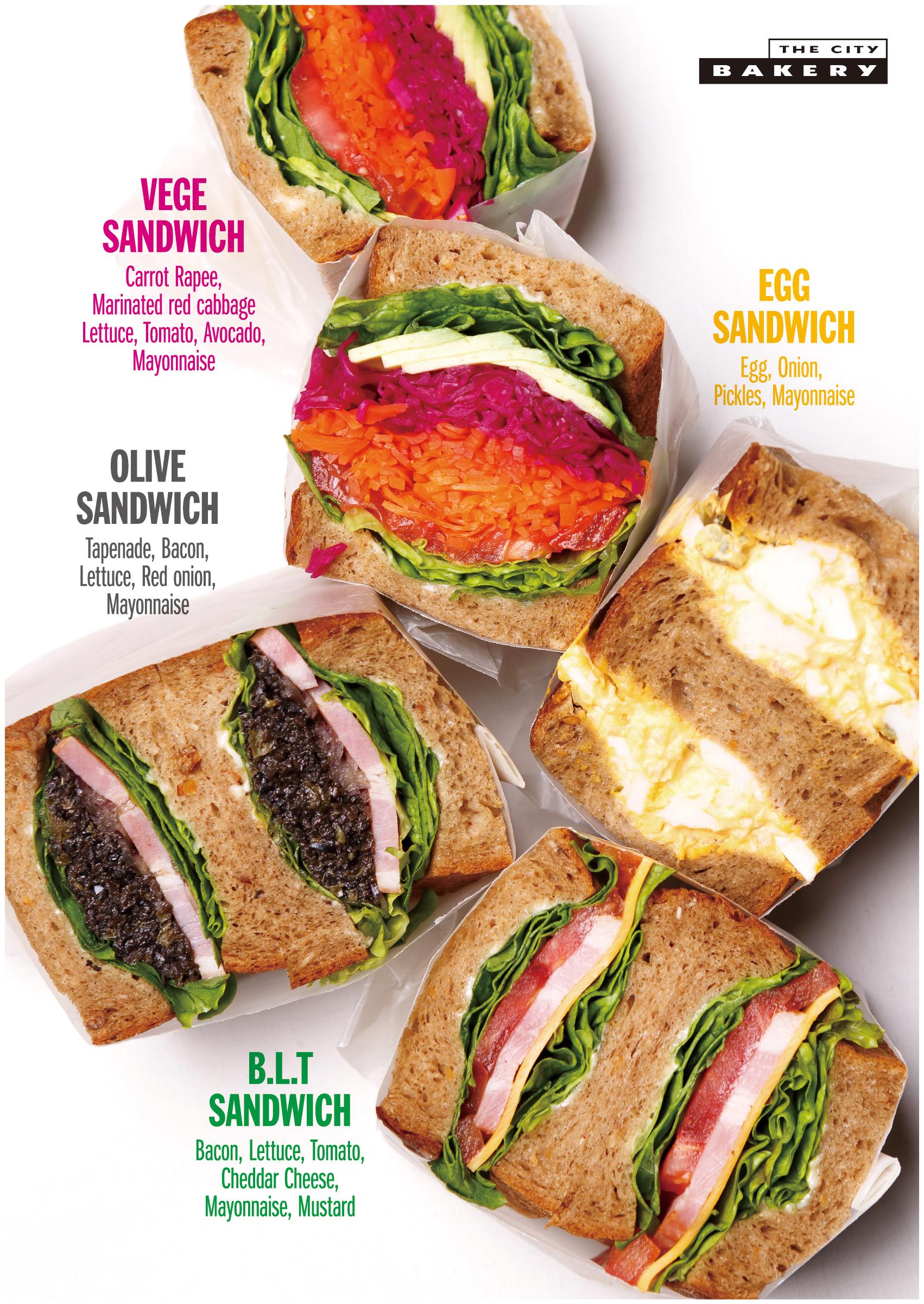 シティベーカリー サンドイッチ ポスター